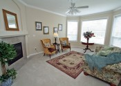 b living room staged